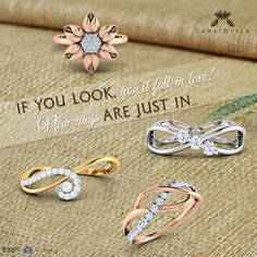 Oh! so many #rings... new arrivals just for you! #jewellery #online #gold #diamond
