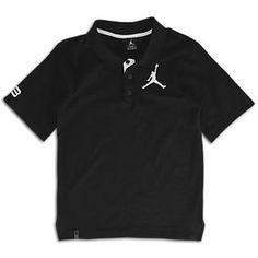 Jordan Jumbo Jumpman Polo - Boys' Grade School - Black/White $29.99
