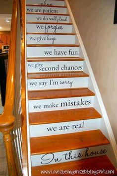 Painted stair idea
