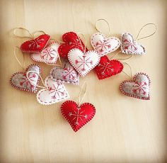 Christmas ornaments set 12. Handmade Felt by HandMadeByMMartynova