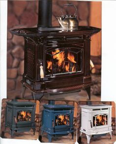 colorful enamel woodstoves | more details product id h300 hampton category wood stoves h300 hampton ...