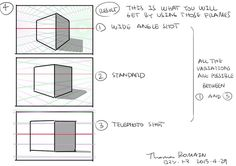 """as-warm-as-choco: """"  Some simple explanations about the main types of Lens you can use when you are drawing a picture.   by Thomas Romain (Space Dandy, Cannon Busters, Code Lyoko, Basquash!, E.P. Kiss..."""