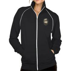 BadGirls gold silhouette young lady Bottom logo Track Jackets