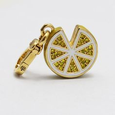juicy enamel glaze craft inlay the Czech crystal drill lemon C pendant ESC019326