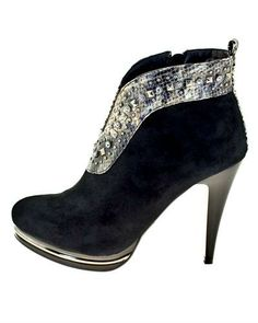 Roberto Botella Leather Studs & Strass Embellished Booties