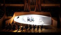 """The latest fashion designer to jump on the opera bandwagon has been Hussein Chalayan who designed the costumes for """"Così Fan Tutte"""", that opened in May at the Walt Disney Concert Hall in Los Angeles."""