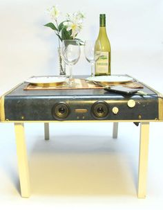 suitcase/picnic table/ipod player.  WANT.