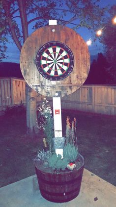 Backyard games 671388256931313350 - DIY Dart backboard Source by