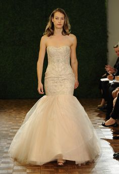 Watters Fall 2014 wedding dress in blush | The Knot Blog