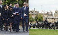 Blenheim Palace flag at half-mast for funeral of Duke of Marlborough 24 Oct 2014