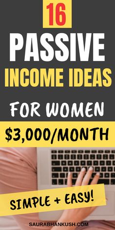 Learn how to make passive income with 16 Passive Income ideas that make money! These are Unique passive income ideas to make money from home. So work from home using these passive income ideas earn money on the side. These passive income ideas are eve Earn Money From Home, Earn Money Online, Make Money Blogging, Money Tips, Way To Make Money, Saving Money, Money Fast, Online Earning, Online Income