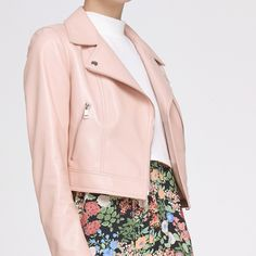 3effc9ba86 Bomber Genuine Leather Sheepskin Pink Short Jacket Parkas For Women Basic  Fur Coats Ukraine Manteau Doudoune