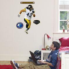 Pittsburgh Steelers Troy Polamalu Junior Wall Décor, Black