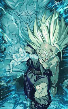Dragon 🐉 Ball Z: Father Son Kamehameha Wave 🌊 Dragon Ball Gt, Dragon Ball Image, San Gohan, Anime Negra, Dbz Wallpapers, Fanart, Son Goku, Anime Art, Otaku Anime