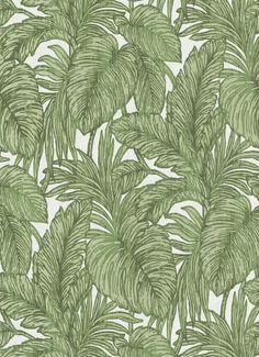 A botanical leaf metallic wallpaper design in green from Erismann's Hacienda Wallpaper Collection. Go Wallpaper UK stock a wide range of designer wallpaper.