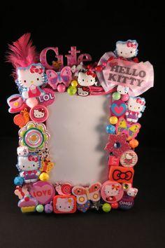 Hello Kitty frame by michellesgottahaveit on Etsy, $38.00