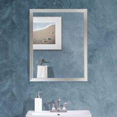 Run Westling Bathroom/Vanity Mirror Latitude Run Westling Aluminum Framed Bathroom / Vanity Mirror Vanity Set With Mirror, Metal Mirror, Round Wall Mirror, Wall Mounted Mirror, Vanity Mirrors, Home Decor Mirrors, Mirrors Wayfair, Modern Wall, Frames On Wall