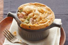 Ham and cheese go together like broccoli and cauliflower—and they're in the mix, too! This creamy pot pie looks restaurant-worthy and tastes delish, too.