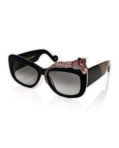 D16RN Anna-Karin Karlsson Rose et la Mer Square Sunglasses, Black