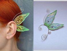 EarringsEarcuffs – butterfly ear cuffs, earrings wings, earrings butterfly wings… – Famous Last Words Magical Jewelry, Fairy Jewelry, Wing Earrings, Cuff Earrings, Amethyst Earrings, Fairy Dress, Maquillage Halloween, Diy Schmuck, Jewelry Crafts