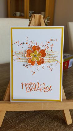 Here's the cards we made at March's card club. This month it was all about the stamp set Flower Shop. Card #1 We used: Lost La...