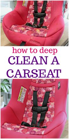 Carseats take a real beating, especially if your children eat while in them. This tutorial on How to Clean a Carseat will show you how to get your kid's carseat clean step by step, making sure it is completely clean and sanitized. Toddler Car Seat, Baby Car Seats, Deep Cleaning, Cleaning Hacks, Car Cleaning, Clean Cloth Car Seats, Smelly Washing Machines, Seat Cleaner