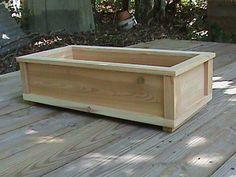Wooden Planter Box by JacksGardens on Etsy, $32.00