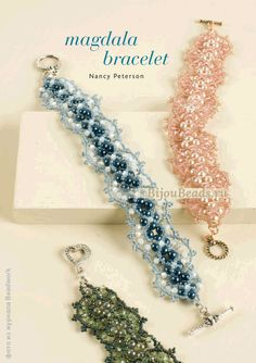 Bracelet made of beads, pearls and bicones