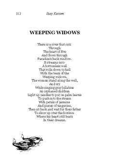 Weeping Widows, Poetry of Suzy Kassem