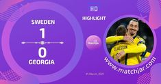 Soccer Highlights, World Cup Qualifiers, Sweden, Georgia, Goals