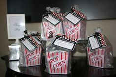 Popcorn Treats at a Hollywood Party #hollywoodparty #popcorn