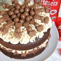 new! Malteser Cake!  A Two Layer Chocolate Malt Spongehellip