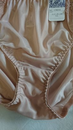 A set of 3 x NWT Vintage Nylon Bikini Panties from Japan, in size and in a very silky nylon, with matching and contrasting lace detail on the hips. All Cotton Gusset and all nylon back. A practical set of everyday lingerie for your drawers. Lingerie Drawer, Lace Detail, Size 16, Japan, Beige, Bikinis, How To Wear, Cotton, Etsy