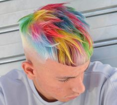 Mens hair colour, cool hair color, hair colors, dyed hair m Mens Hair Colour, Cool Hair Color, Hair Colors, Dreadlocks Court, Creative Hairstyles, Cool Hairstyles, Mens Hairstyles Color, Dyed Hair Men, Men Hair