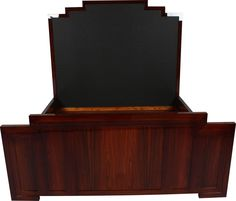 art deco style king size bed in rosewood art deco style rosewood