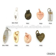 Best selling products custom engraved metal jewelry logo tags                                                                                                                                                     More