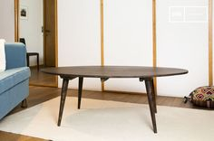 La mesa de centro Bikhatz se puede integrar a un interior escandinavo. Lleva un toque vintage.