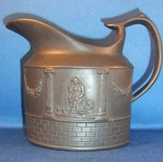 ANTIQUE EARLY 19THC BLACK BASALT CREAMER POSSIBLY MOSELEY C1801  £54