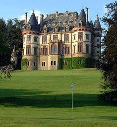 Golf Chateau de Bournel under Besancon; Franche Comté - France; played there 1999 Vac (during the eclipse)