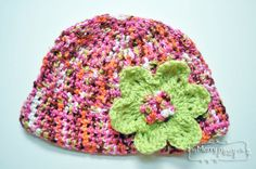 Free Crochet Pattern for a Cherry Lime Beanie - Adult Size