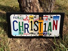 Kid's Room Personalized Custom Recycled LICENSE Plate Sign Childs Name Wall Decor child's on Etsy, $6.00