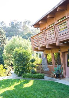 From The Outside - This Hollywood Hills A-Frame Home Is Magical - Photos