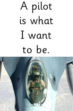 a pilot is what i want to be