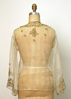 Turkey, metallic thread embroidered silk blouse late 19th/early 20th c