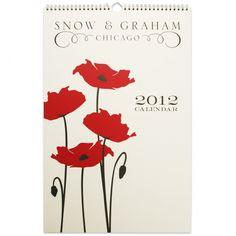 Snow & Graham 2012 Wall Calendar / $26