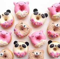 Lovely animals' face donuts. #desserts #donuts #cute #cutepic #nicepic #lovely #love pinterest @lupsona