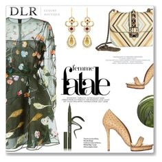 """""""DLR Contest"""" by limara1 ❤ liked on Polyvore featuring Valentino, Charlotte Olympia, LE VIAN, Jin Soon, Stila and dlrboutique"""