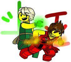 Lego ninjago Lloyd n Kai by MaylovesAkidah