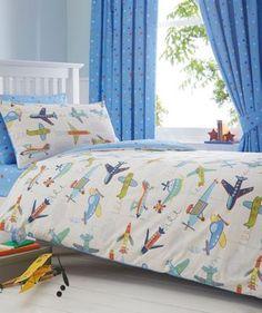 bluezoo Boy's blue aeroplane bedding set- at Debenhams.com