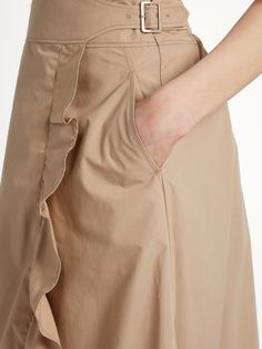 Click here to buy Muveil Ruffled cotton-blend poplin wrap skirt at MATCHESFASHION.COM